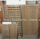 Wood Lattice Fence Panel